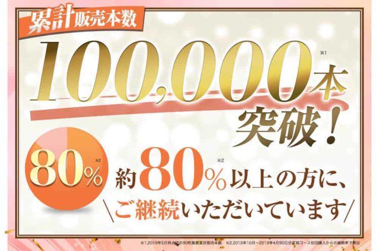 累計100,000本突破